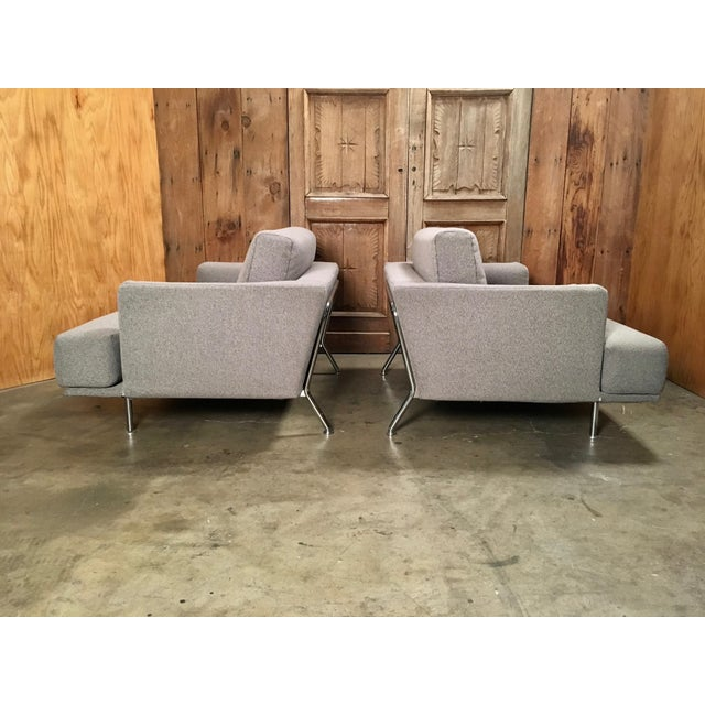"Gray Late 20th Century Piero Lissoni for Cassina ""253 Nest"" Chairs- a Pair For Sale - Image 8 of 13"