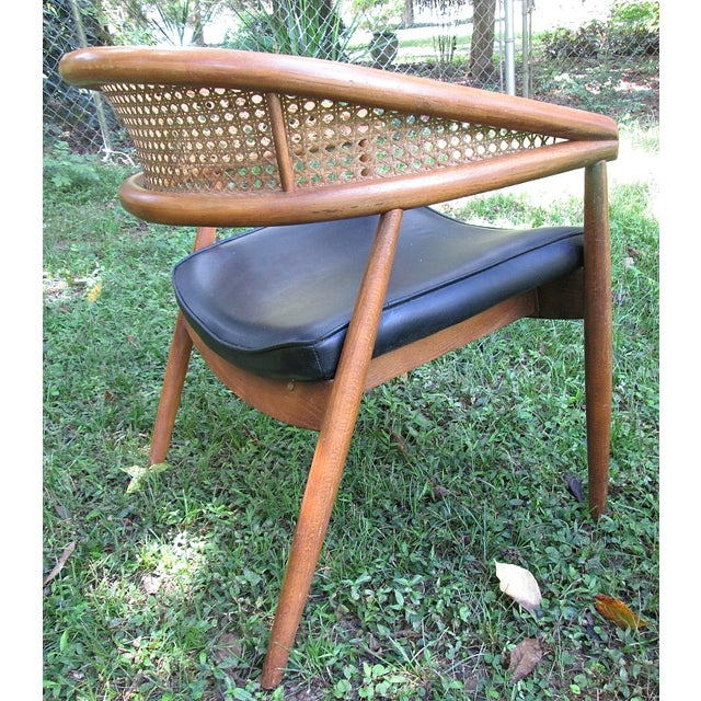 1960s James Mont Cane Back Chairs - Set of 4 - Image 8 of 10