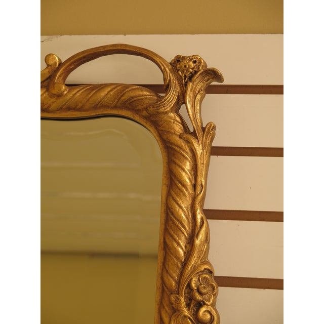 Traditional Friedman Brothers Gold Framed Beveled Glass Mirror For Sale - Image 3 of 10