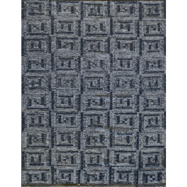 Swedish Flat-Weave Inspired Handwoven Wool Rug For Sale In Los Angeles - Image 6 of 6