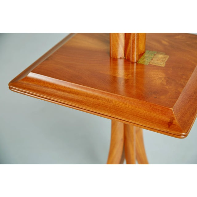 1955 Giuseppe Scapinelli Caviuna Wood Sculptural Side Tables, Brazil - a Pair For Sale - Image 9 of 11