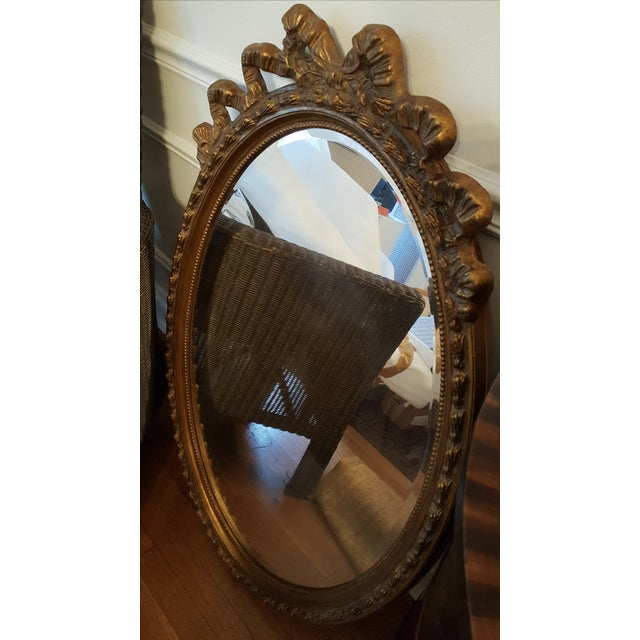 Gold Glided Oval Mirror - Image 3 of 3