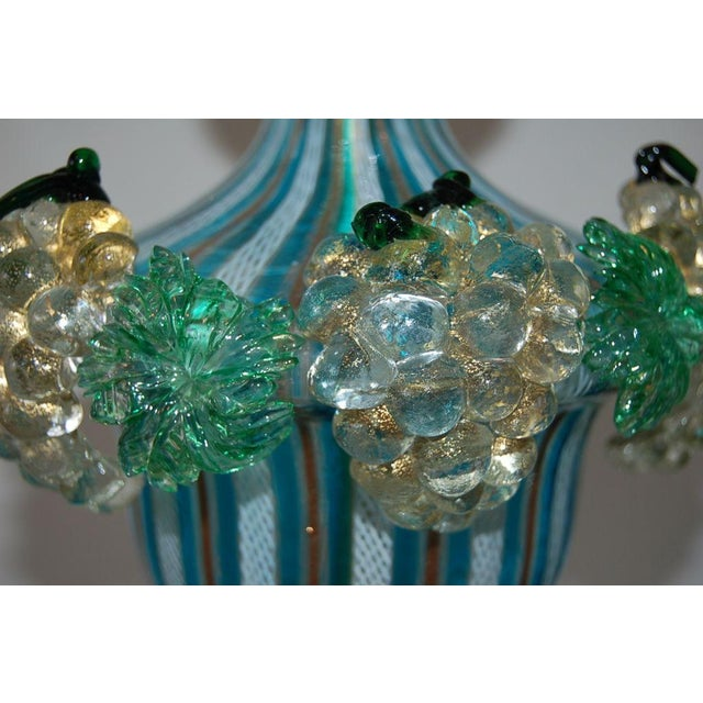 Dino Martens Dino Martens Vintage Murano Glass Table Lamps Turquoise For Sale - Image 4 of 10