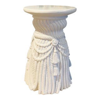 Hollywood Regency Dorothy Draper Plaster Tassel Rope Table For Sale
