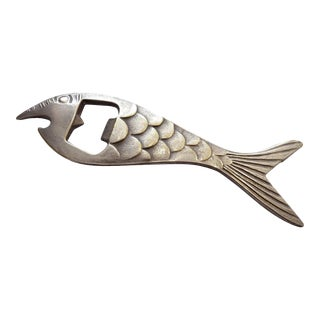 "Silver Modernist ""Fish"" Bottle Opener For Sale"