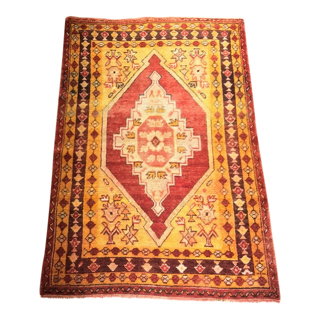 "Bellwether Rugs Vintage Turkish Oushak Area Rug - 3'8"" X 5'4"" - Image 1 of 11"
