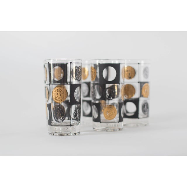 Mid-Century Coin Glasses- Set of 5 - Image 2 of 5