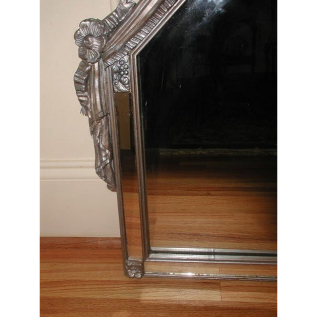 Early 20th-C. Silver Floral Swag Mirror - Image 3 of 8