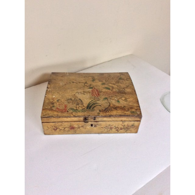 Yellow Chinoiserie Domed Box For Sale - Image 5 of 6