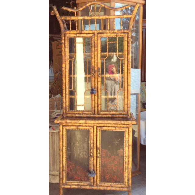 Antique Bamboo Cabinet For Sale - Image 11 of 11