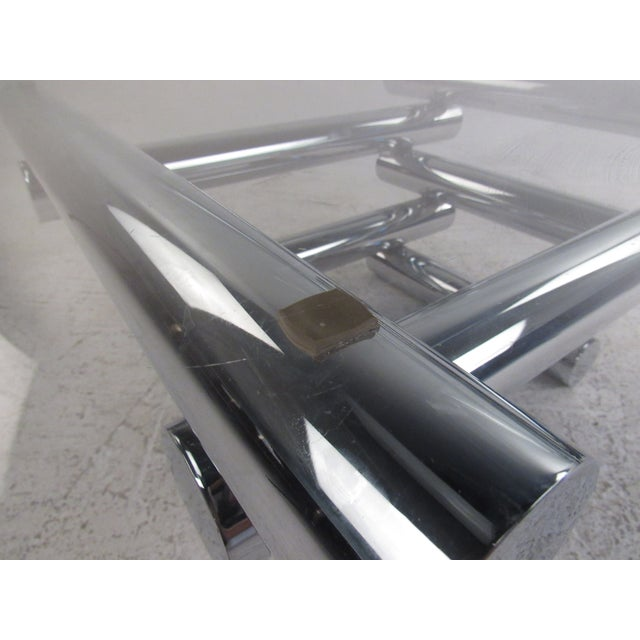 Vintage Modern Chrome Coffee Table in the Style of Paul Mayen For Sale - Image 9 of 10