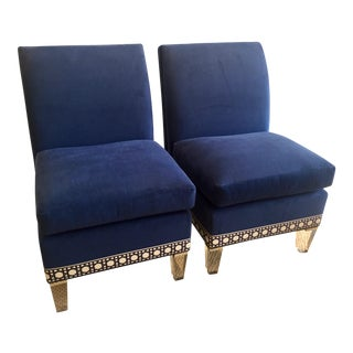 Slipper Chairs - a Pair For Sale