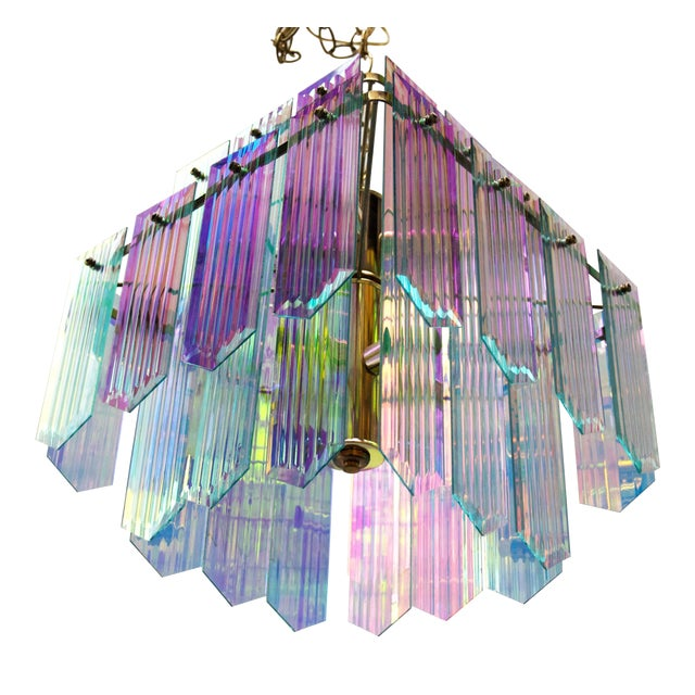 Dichroic Swag Chandelier - Image 1 of 7
