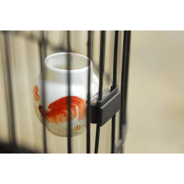 Antique Chinese Domed Bamboo Bird Cage For Sale In San Francisco - Image 6 of 11