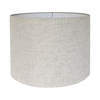 Large Drum Lamp Shade, Natural Linen For Sale