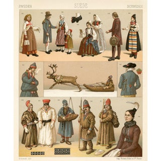 Swedish Fashion Print, 1888 For Sale