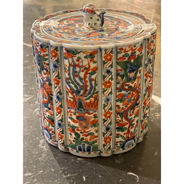 Wanli Wucai Chinese Export Lidded Box For Sale - Image 10 of 12