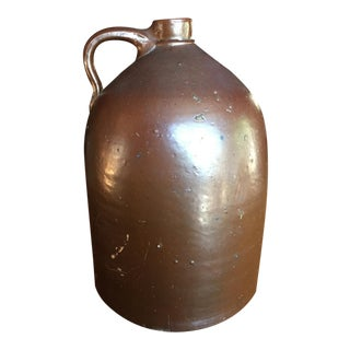 Brown Salt Glazed 4 Gallon Moonshine Jug Circa Late 1800's/Early 1900's