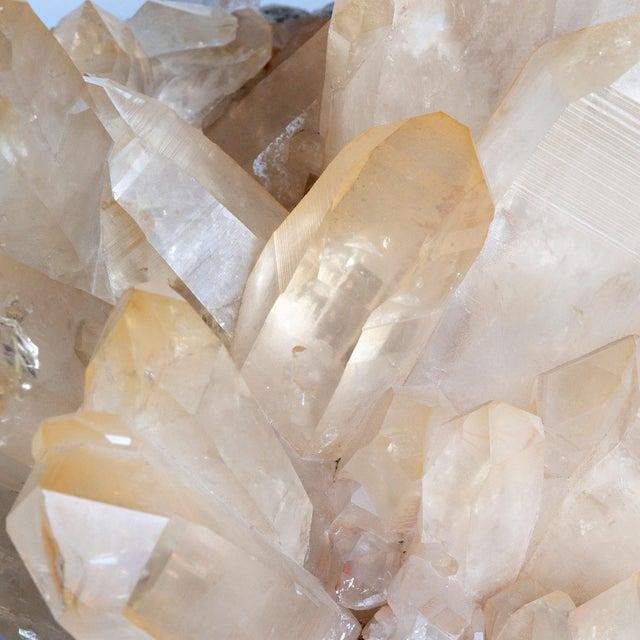 Contemporary Golden Quartz Cluster For Sale - Image 3 of 4