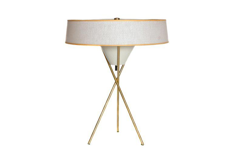 World Class A Mid Century Modern Tripod Table Lamp By Gerald