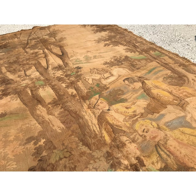Textile Antique Gobelin Wall Art Tapestry For Sale - Image 7 of 8