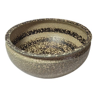 Vintage Brutalist Art Pottery Pumice Texture Bowl For Sale