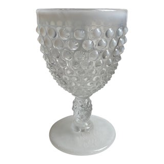 1980s Milk Glass Goblet For Sale