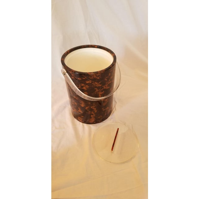 1970s Faux Tortoise Shell Ice Bucket For Sale - Image 5 of 6