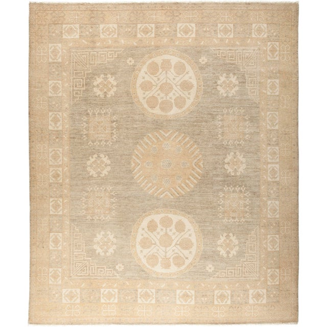 """Traditional Hand-Knotted Area Rug 8' 1"""" x 9' 7"""" For Sale - Image 4 of 4"""