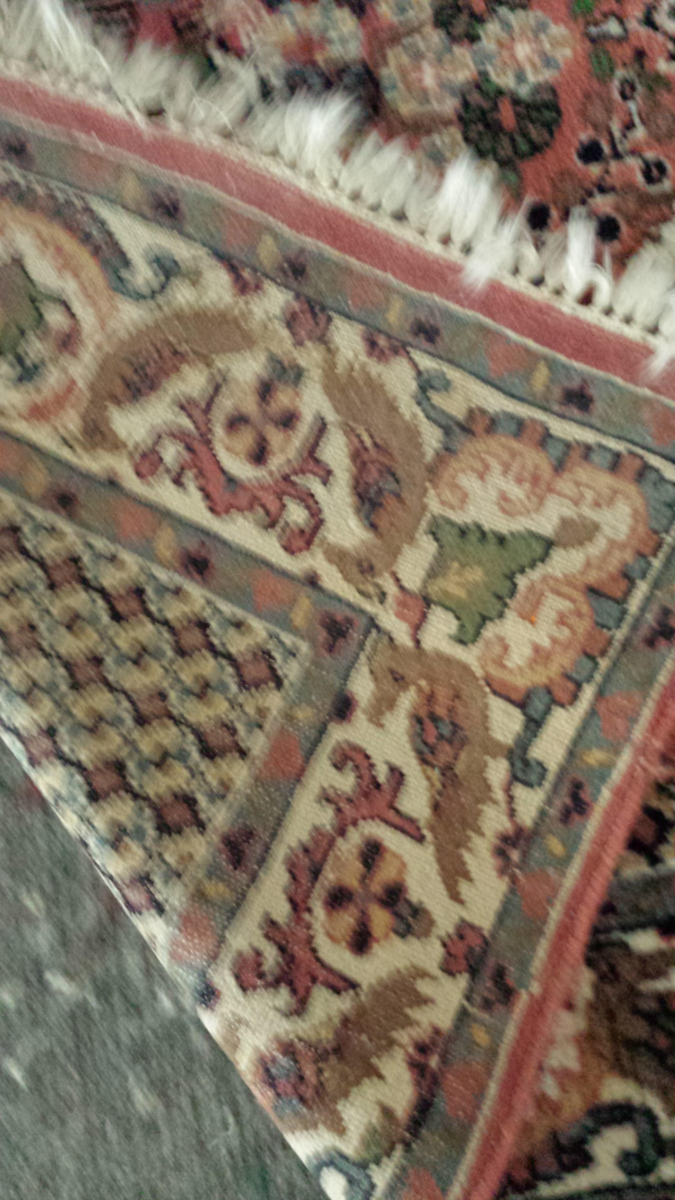 Vintage Hand Knotted Indian Oriental Rug Tabriz Pattern