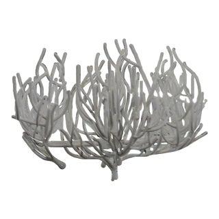 Faux Coral Metal Chandelier