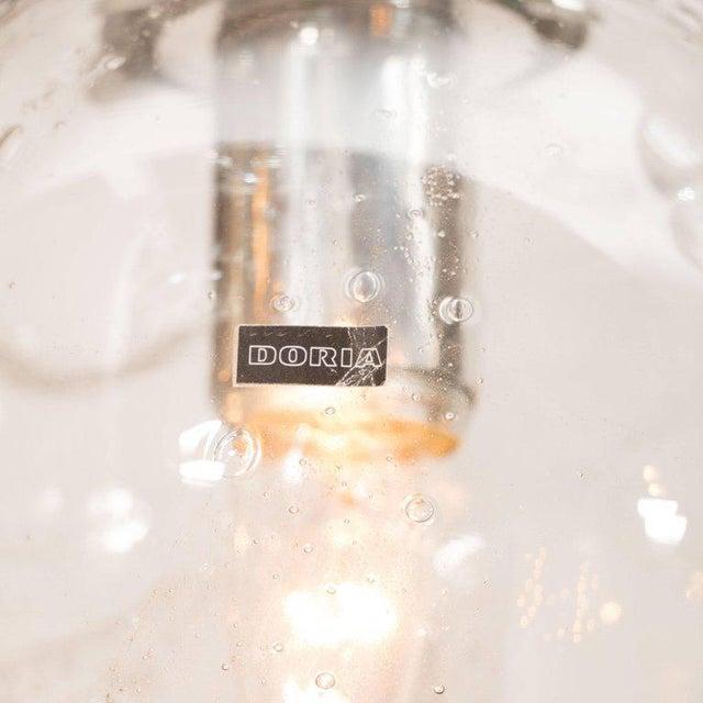 Doria Leuchten Germany Pair of Mid-Century Modern Handblown Smoked Globe Pendants by Doria Leuchten For Sale - Image 4 of 5