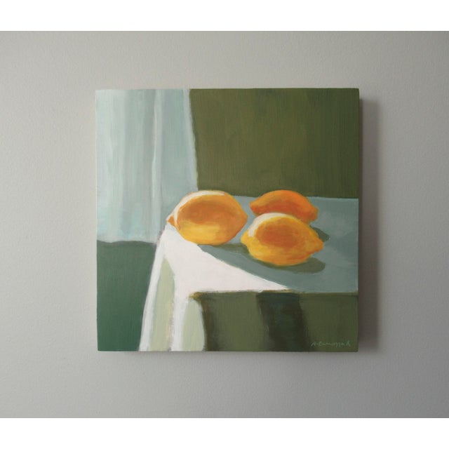 Abstract Expressionism Lemon Light by Anne Carrozza Remick For Sale - Image 3 of 6