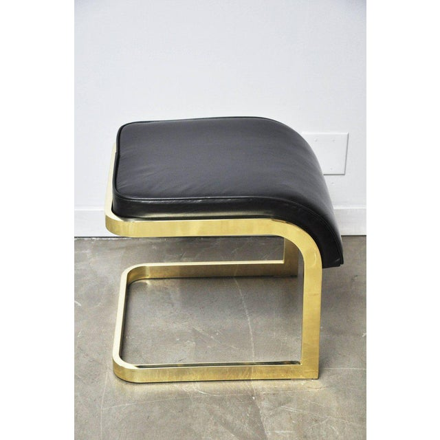 Brass and Leather Stools by DIA For Sale - Image 10 of 10