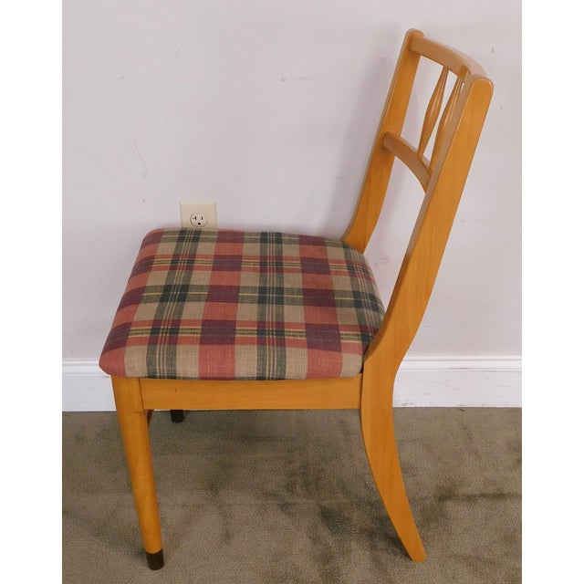 "Milo Baughman for Drexel ""New Today's Living"" Mid Century Modern Set 6 Blonde Dining Chairs For Sale In Philadelphia - Image 6 of 13"