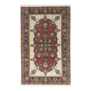 """Sarouk, Hand Knotted Persian Rug - 4' 5"""" X 6' 10"""" For Sale"""