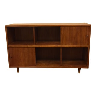 Dark Walnut Scandinavian Modern Bookcase