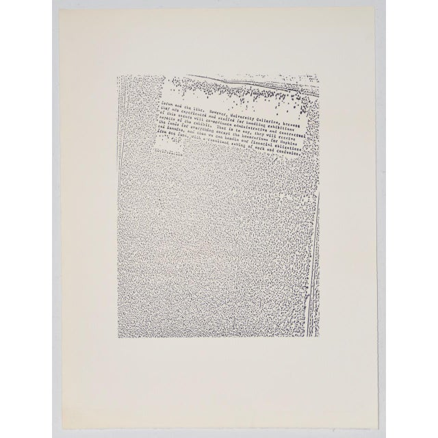 "White John Link (American, B.1942) ""Untitled"" Limited Edition Lithograph C.1973 For Sale - Image 8 of 8"