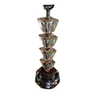 Vintage 1930s Art Deco Glass Table Lamp