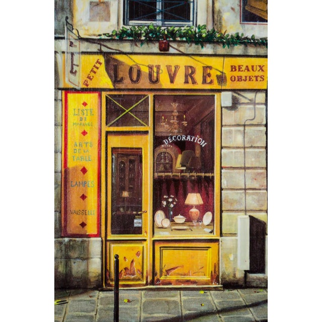 """Impressionist 1990's Vintage """"Louvre"""" Edition 196/550 Seri-Lithograph by Louis Robichaud For Sale - Image 3 of 13"""