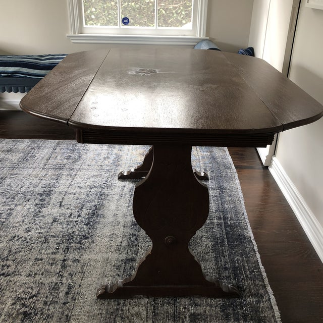 This is a beautiful drop leaf table for any room in the house. Made in the 1940s.