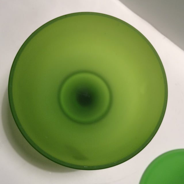 1940's Vintage Green Westmorland Green Glass Candy Dish For Sale - Image 11 of 11