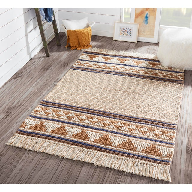 """Esme Ivory Hand Woven Area Rug 2'3"""" X 7'6"""" Runner For Sale In Atlanta - Image 6 of 7"""