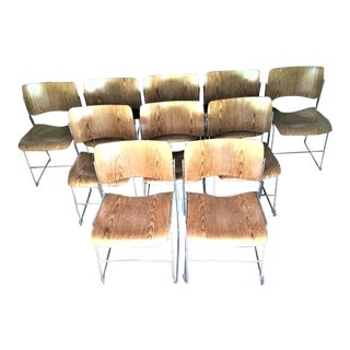 Mid Century David Rowland 40/4 Stackable Chairs- Set of 10 For Sale