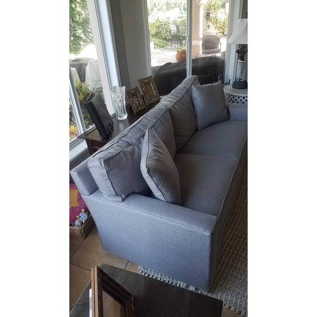 Lexington Bristol Grey Performance Fabric Loveseat & Couch Sofa - a Pair For Sale - Image 9 of 13