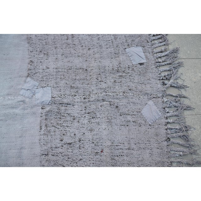 "Turkish Tribal Hemp Rug - 50"" x 67"" For Sale In Austin - Image 6 of 7"
