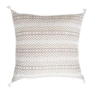 Tan Handwoven Mexican Pillow