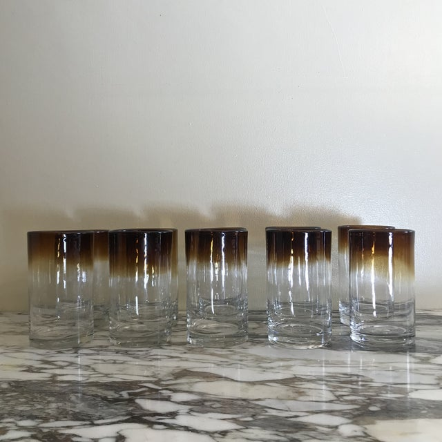 Hand Blown Ombré Glasses - Set of 10 For Sale In Los Angeles - Image 6 of 8