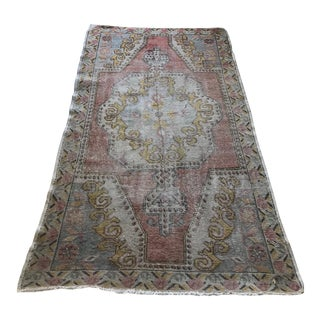"Handwoven Oriental Turkish Oushak Rug - 7'5"" X 4'3"" For Sale"