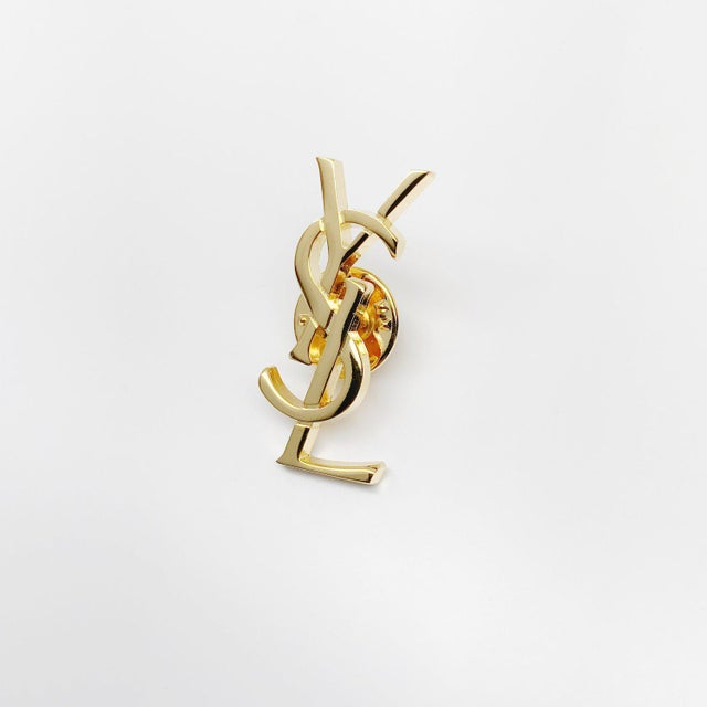 Modern Classic Monogram Pin by Yves Saint Laurent For Sale - Image 3 of 5